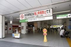 1.赤羽駅西口を出ます